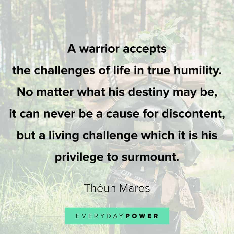 warrior quotes about challenges