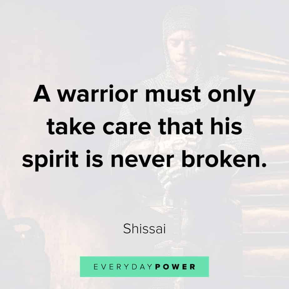 warrior quotes about being broken