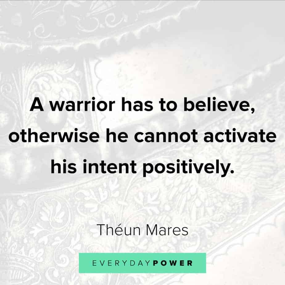 warrior quotes about intent