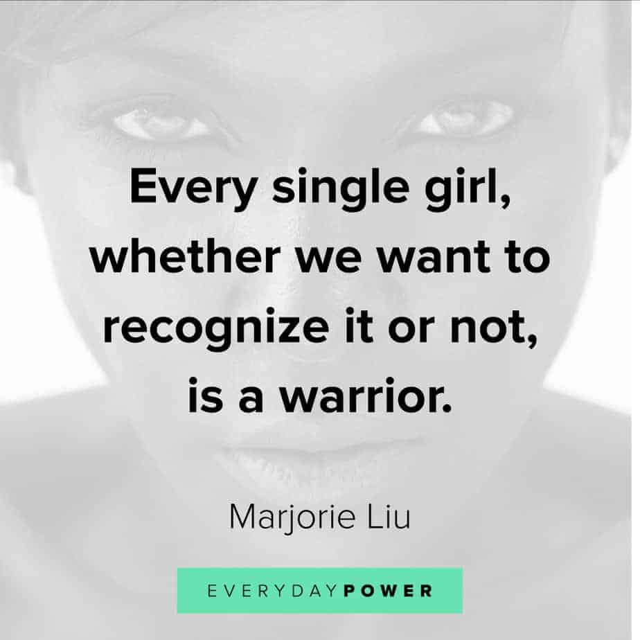 warrior quotes about single girls