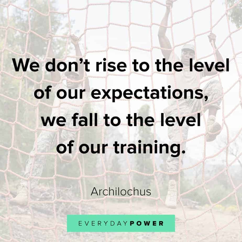 warrior quotes about expectations