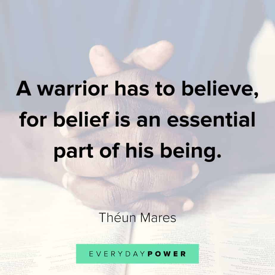warrior quotes about self belief