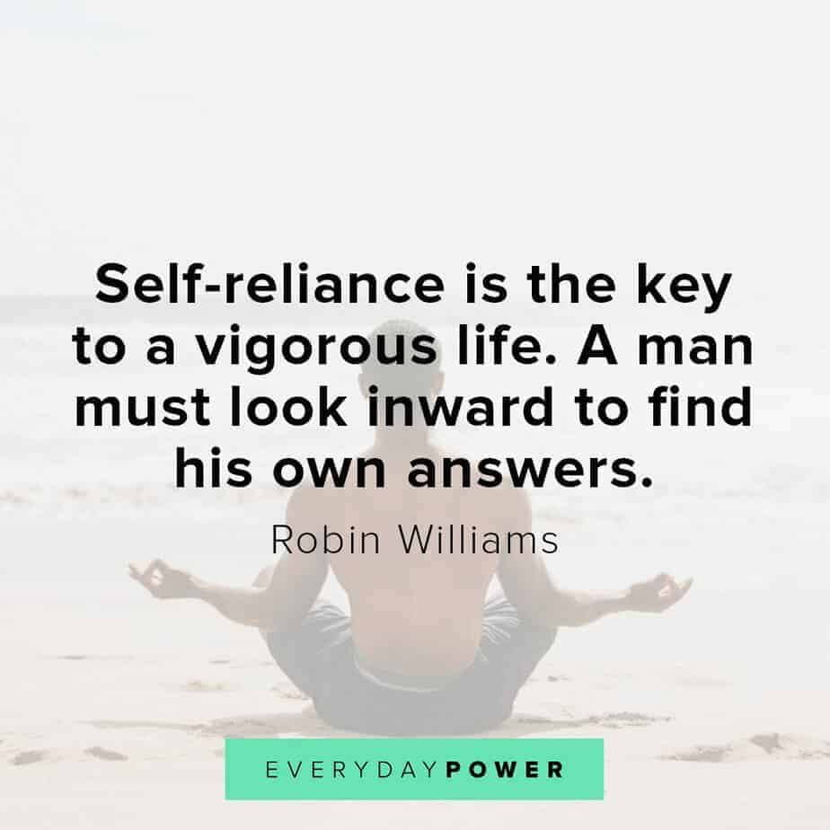 Robin Williams quotes on self reliance