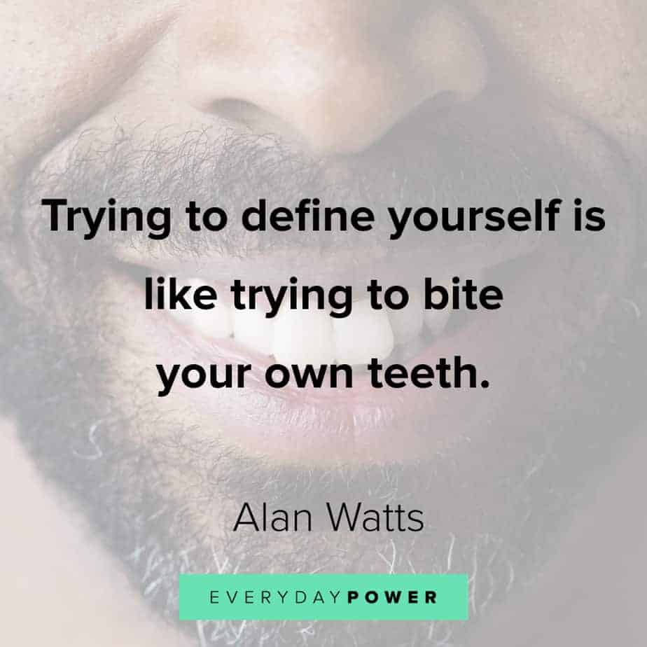 Alan Watts Quotes on defining yourself