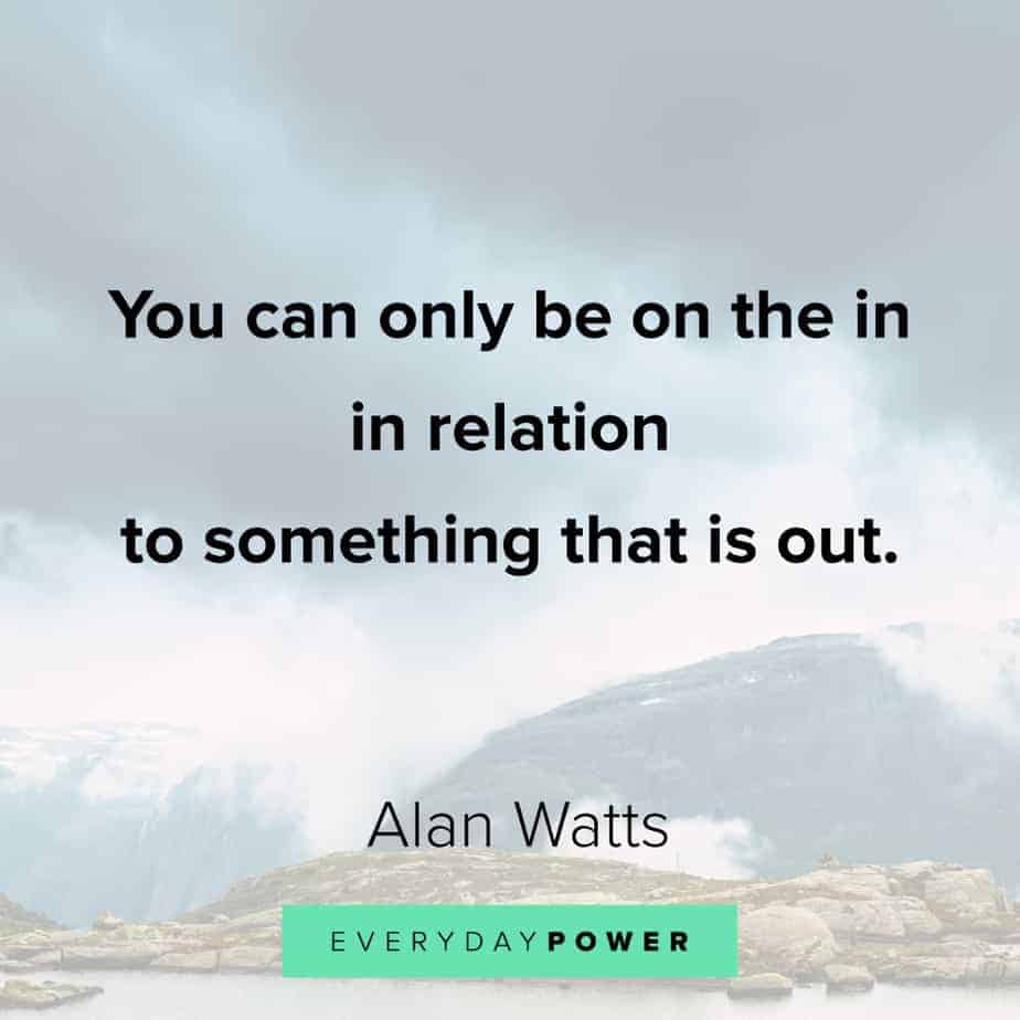 Alan Watts Quotes on perception
