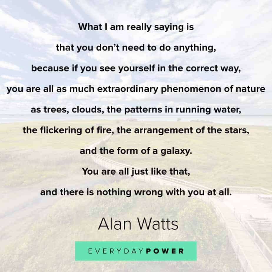 Alan Watts Quotes on nature