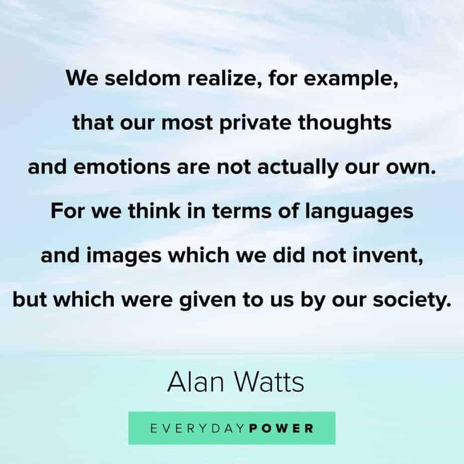 Alan Watts Quotes on society
