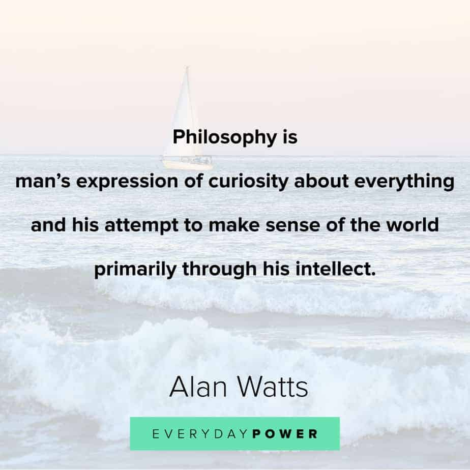 Alan Watts Quotes on intellect