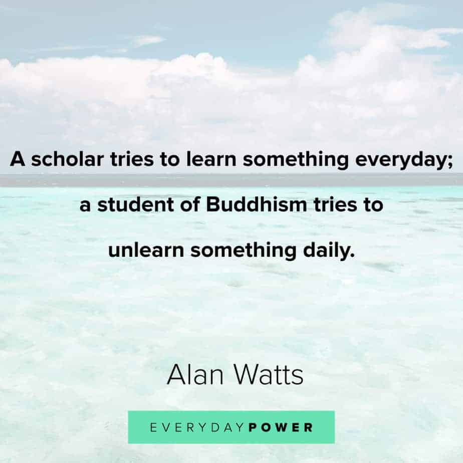 Alan Watts Quotes on buddhism