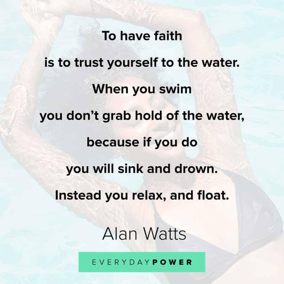 Alan Watts Quotes on faith