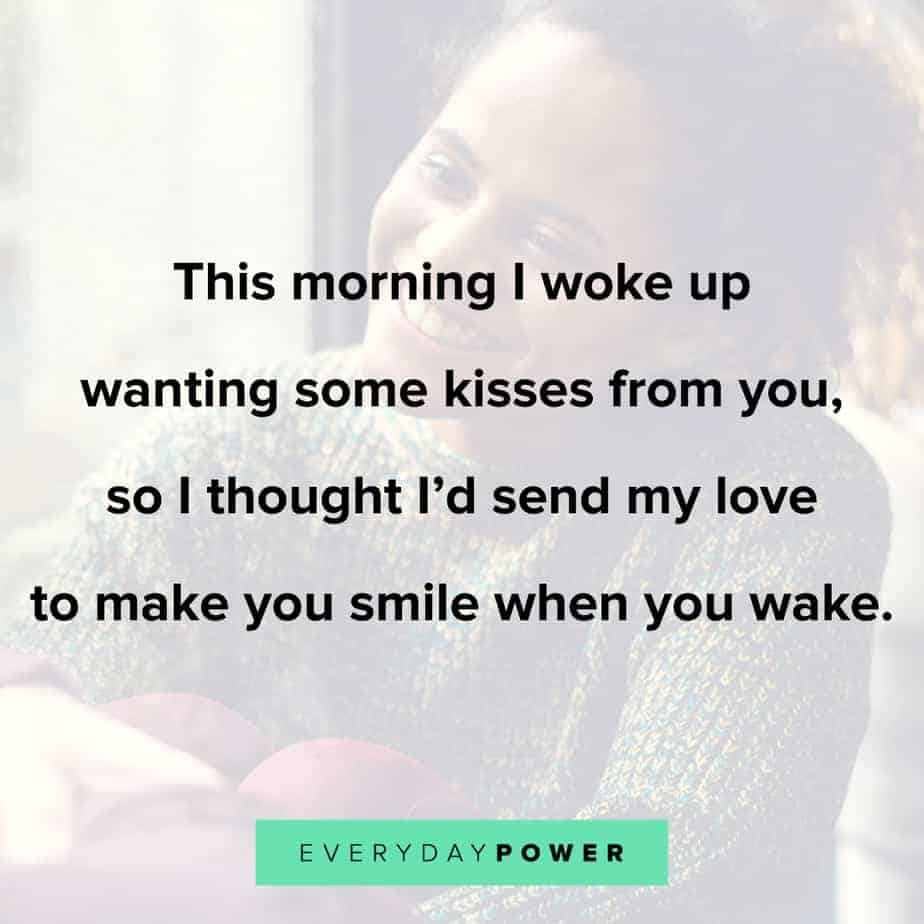 Good Morning Quotes for Him about kisses