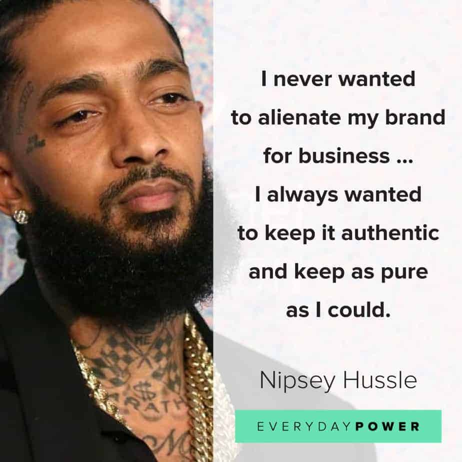 Nipsey Hussle quotes about rap music