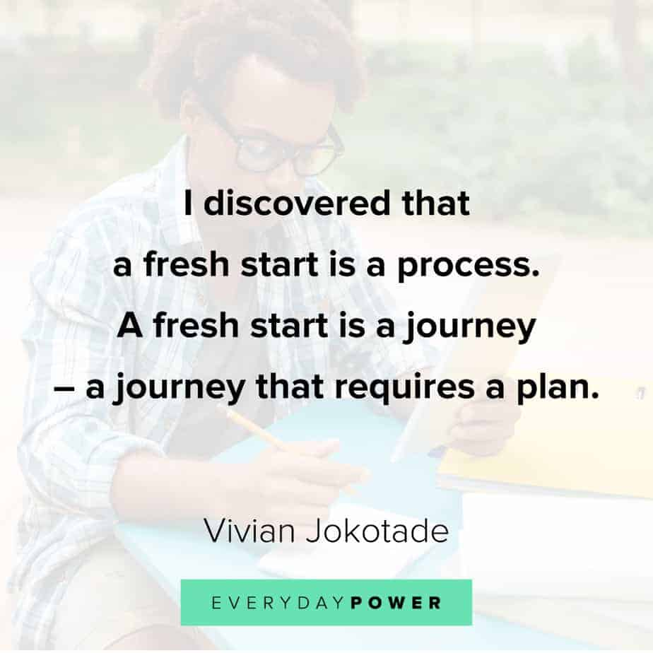 Quotes about new beginnings and the journey