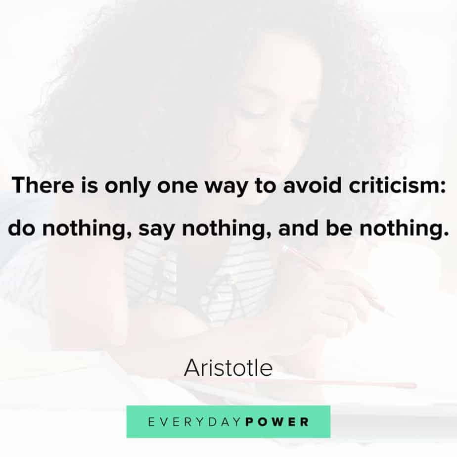 Quotes by Famous People about criticism