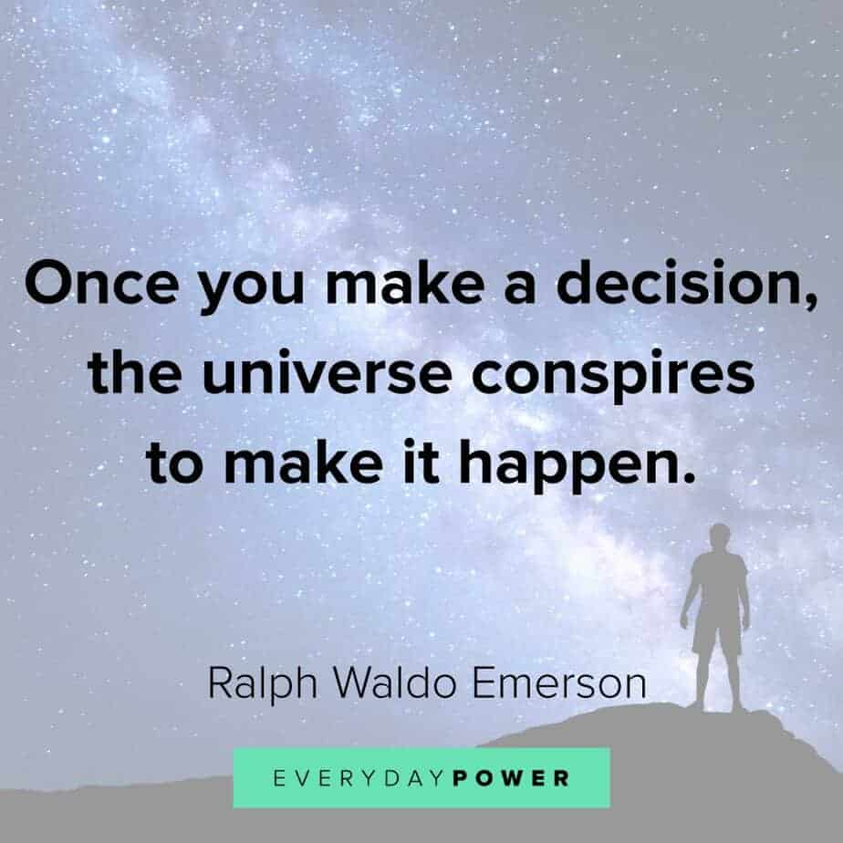 Ralph Waldo Emerson quotes on decisions
