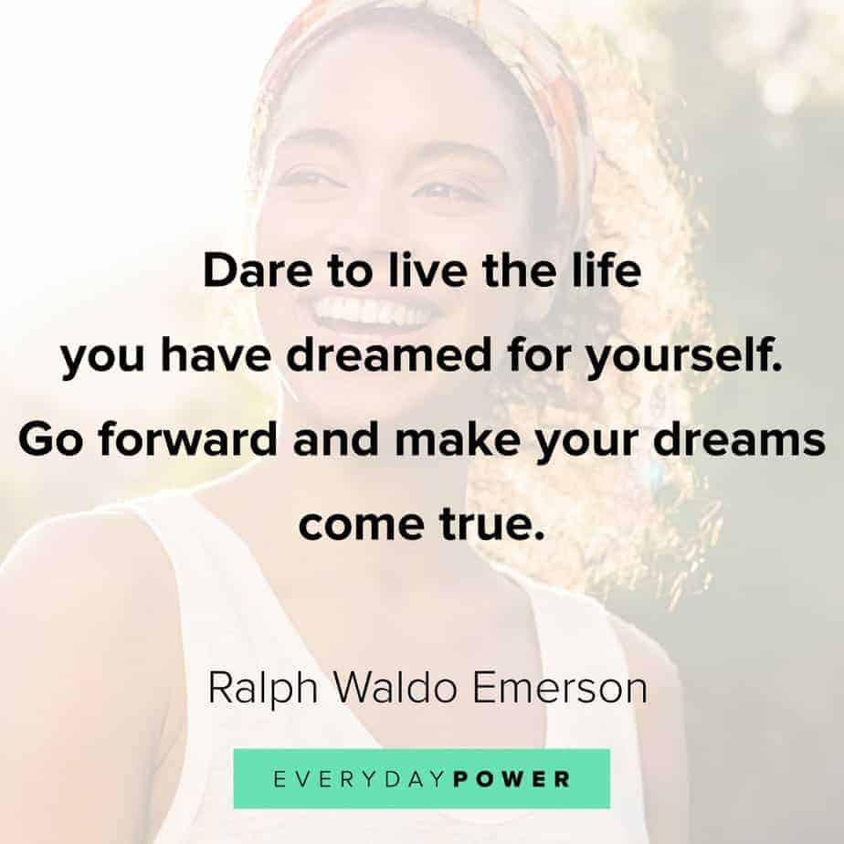 Ralph Waldo Emerson quotes on going forward