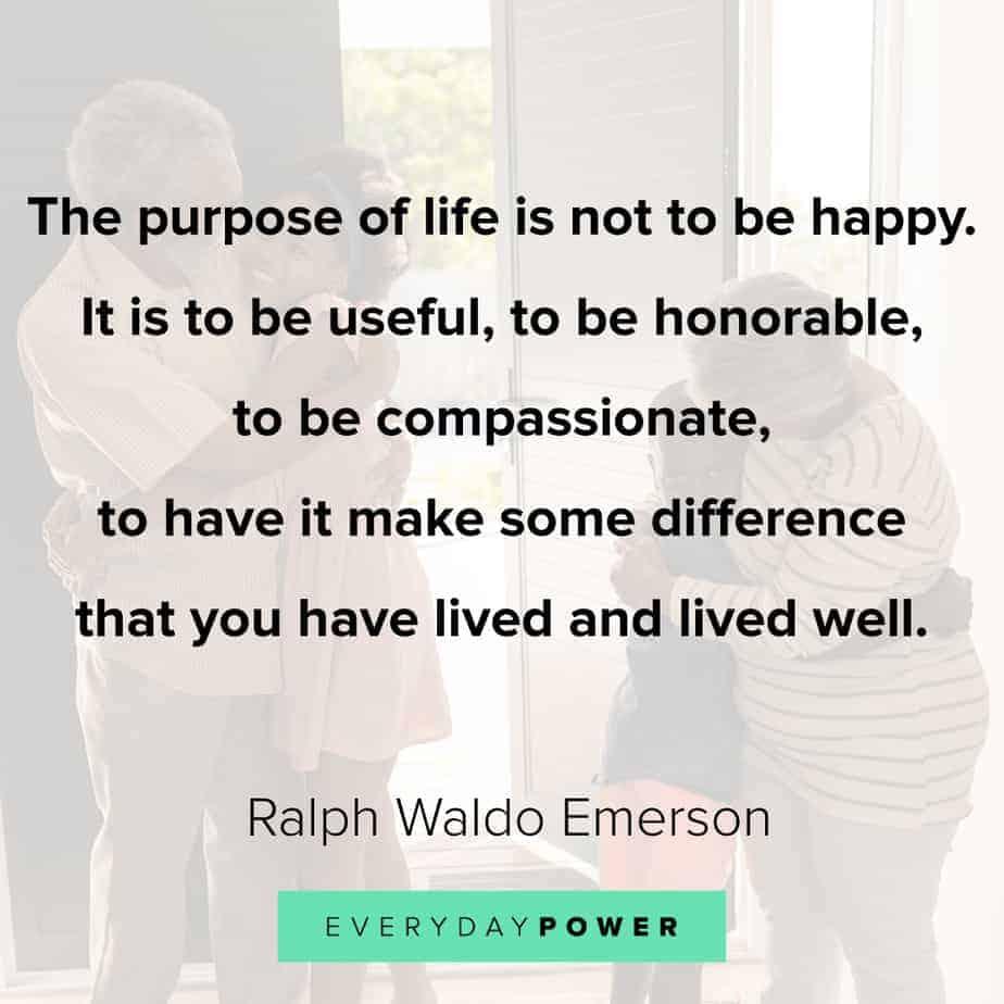 Ralph Waldo Emerson quotes on purpose of life