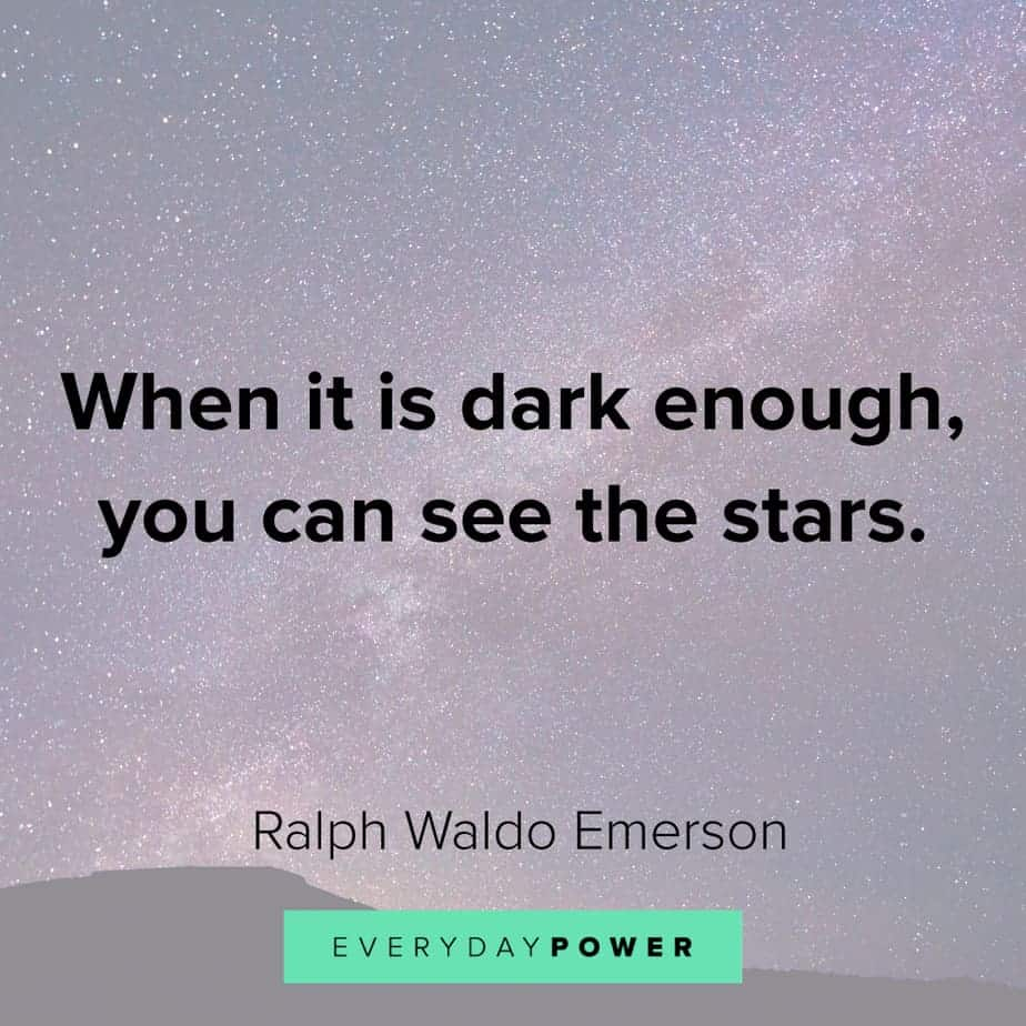 Ralph Waldo Emerson quotes on the stars