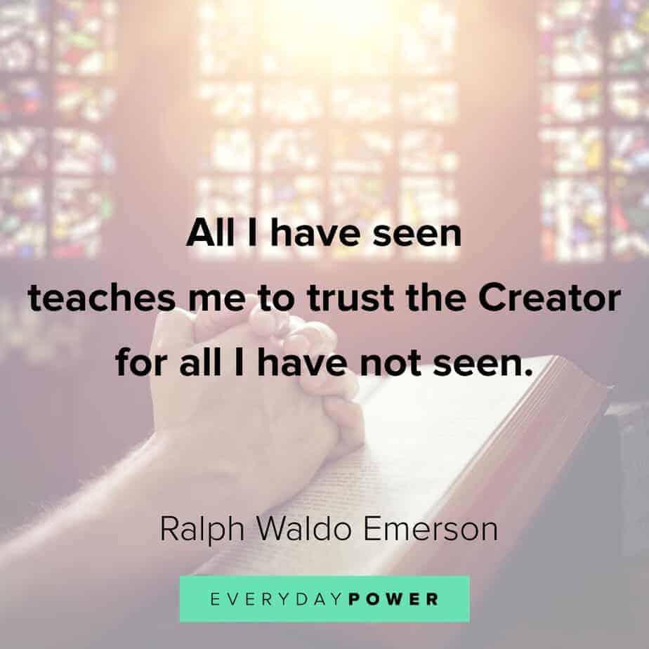Ralph Waldo Emerson quotes on faith