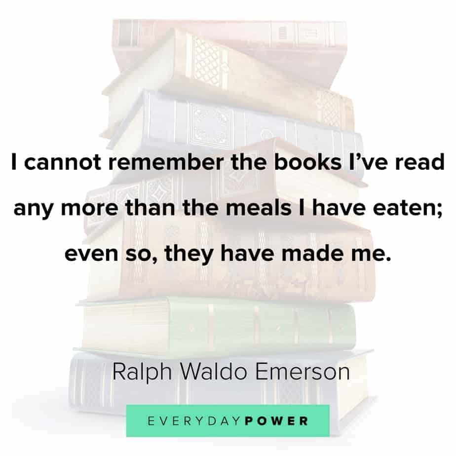 Ralph Waldo Emerson quotes on reading