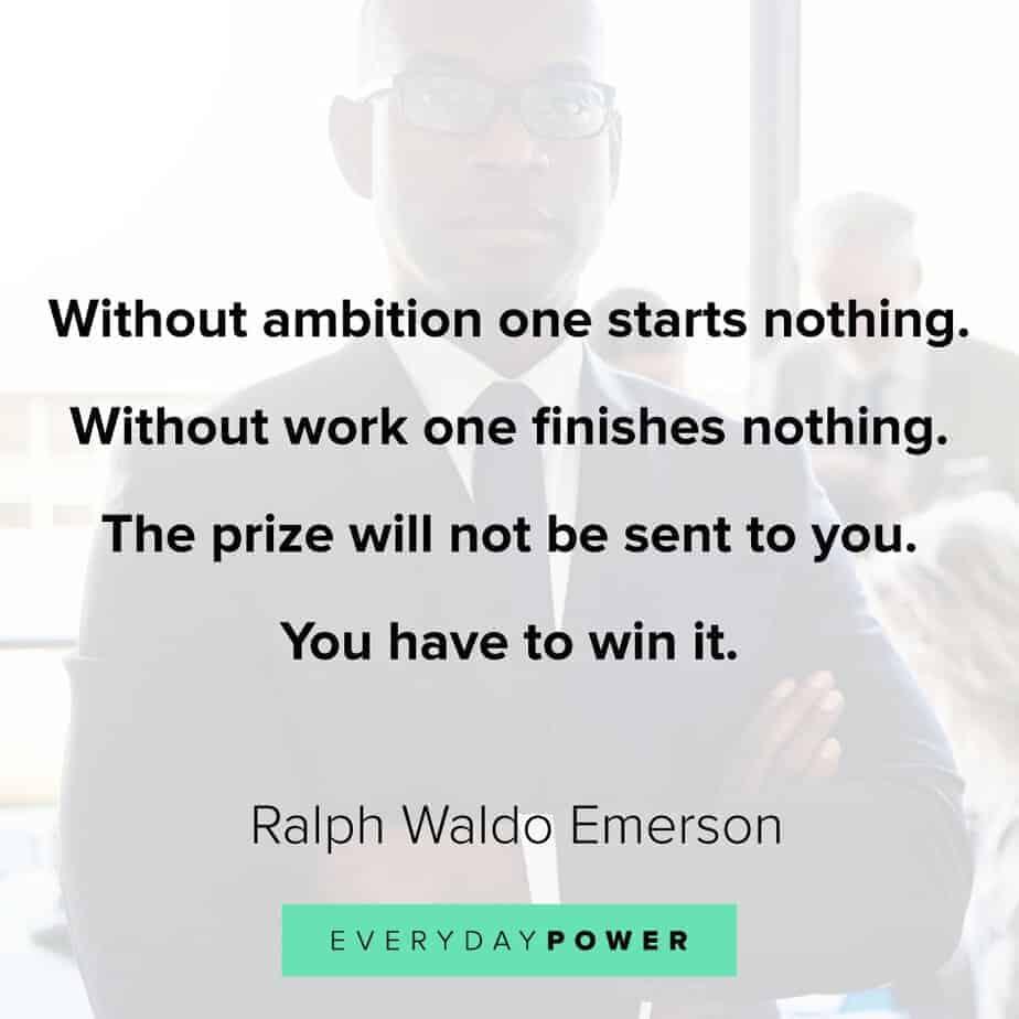 Ralph Waldo Emerson quotes on ambition