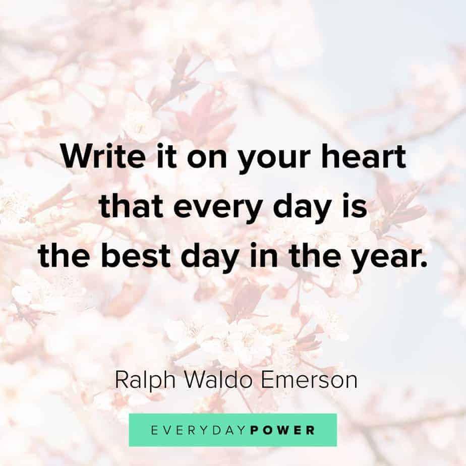 Ralph Waldo Emerson quotes on positivity
