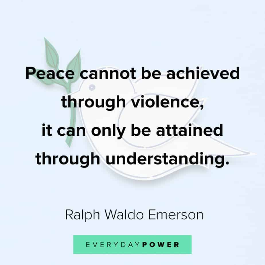 Ralph Waldo Emerson quotes about peace