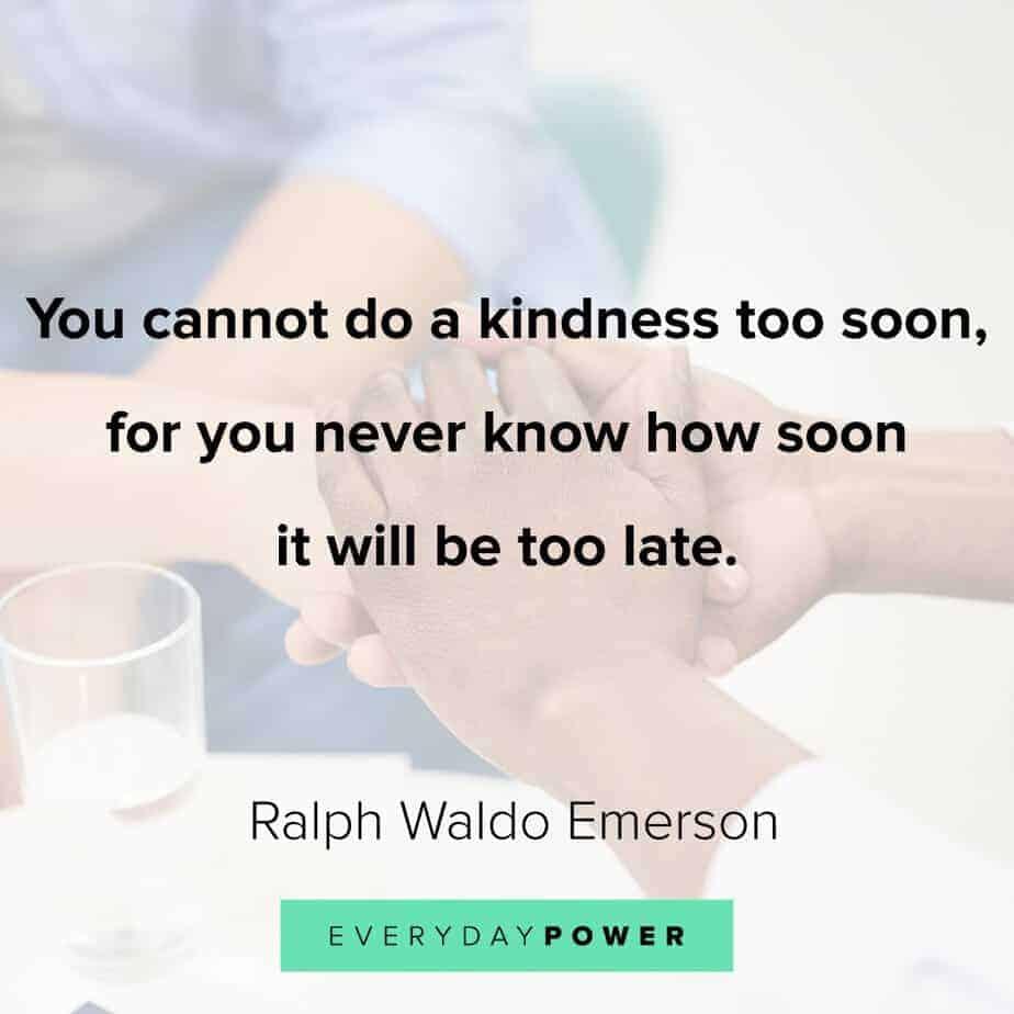 Ralph Waldo Emerson quotes on kindness