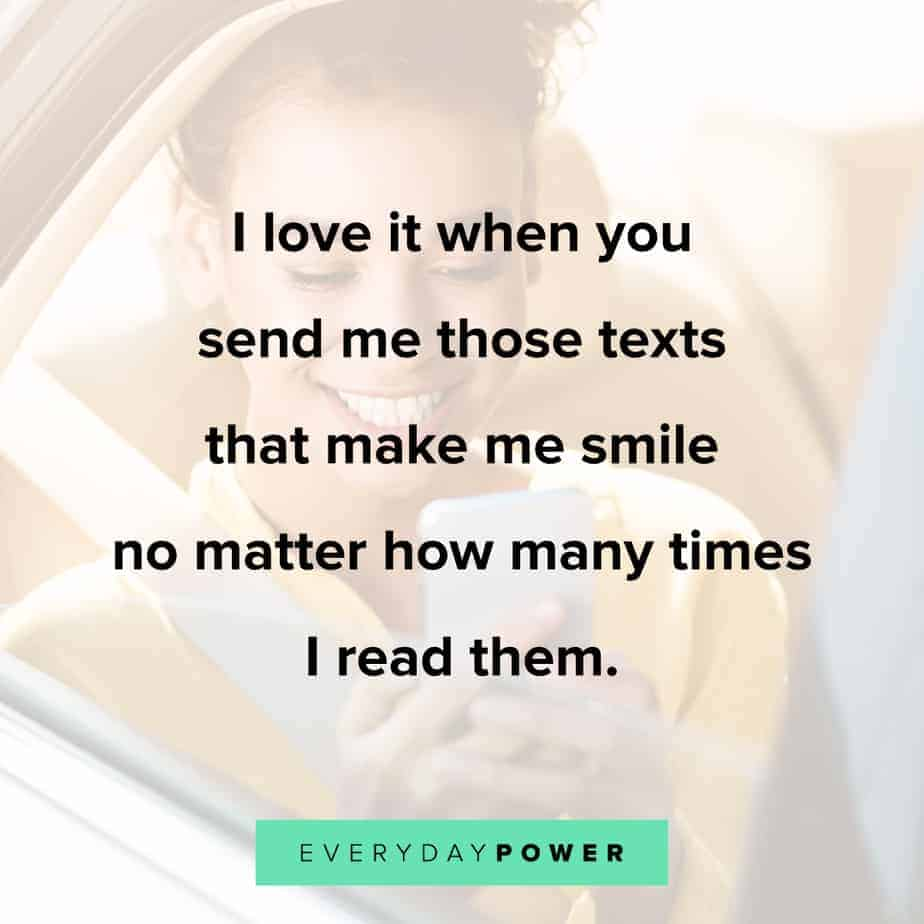 Love quotes for him to make him smile
