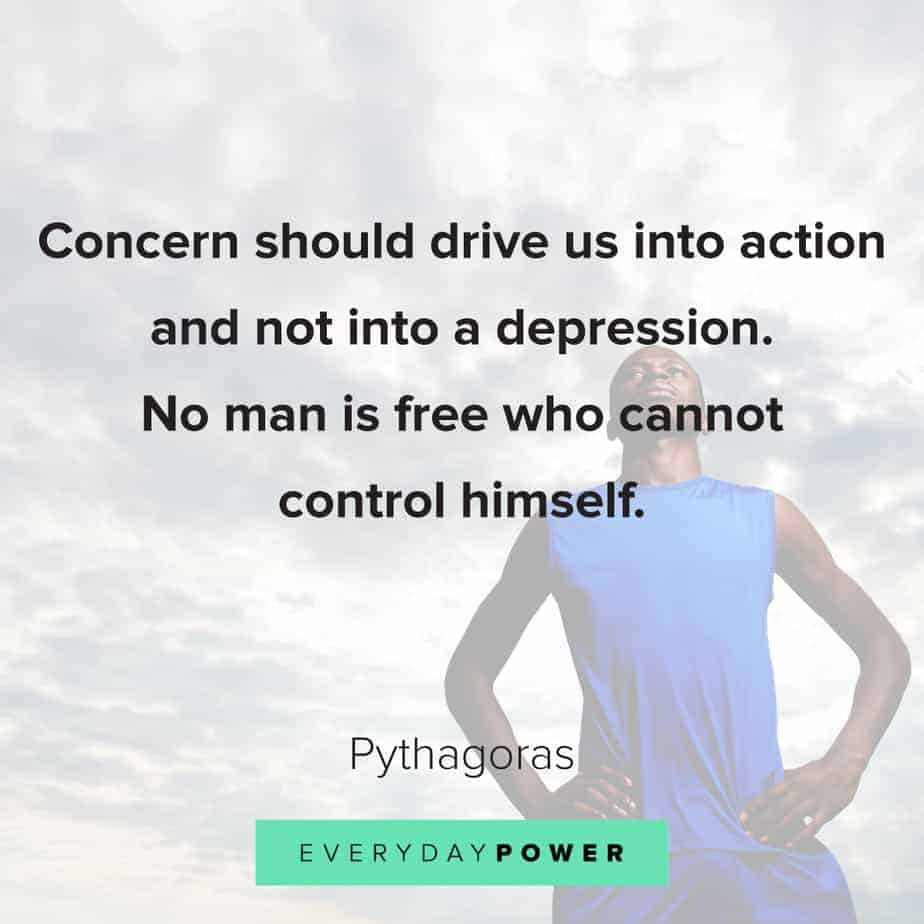 quotes about depression and self control