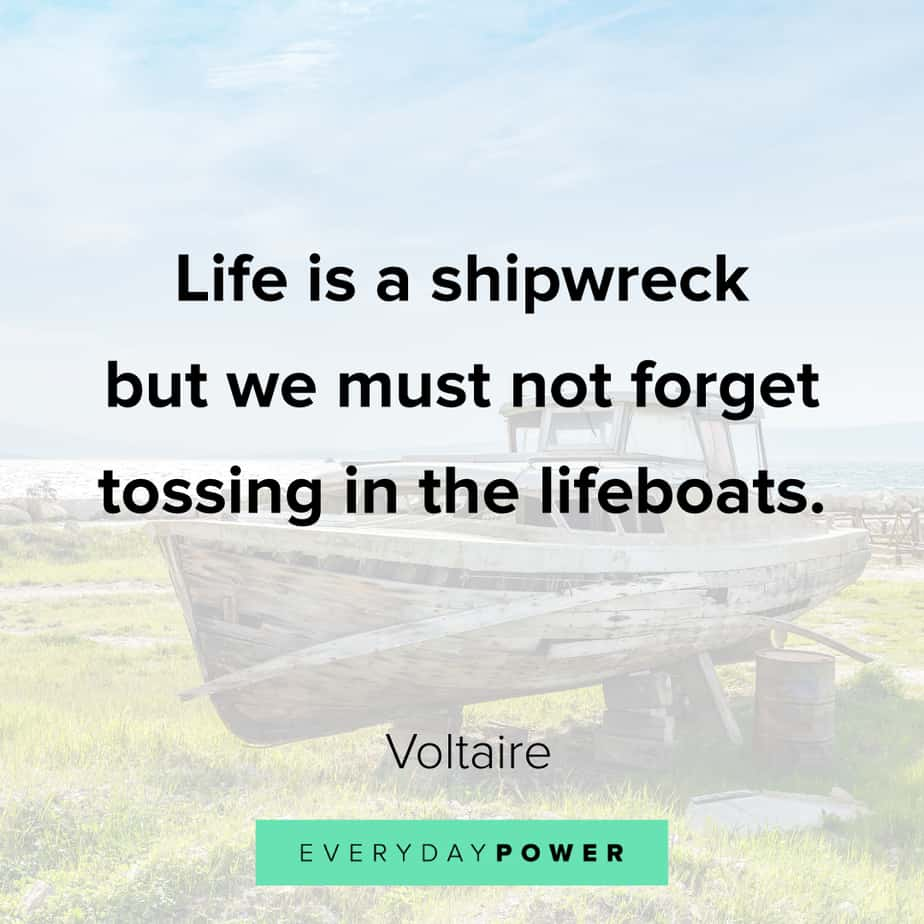 Funny inspirational quotes about shipwrecks
