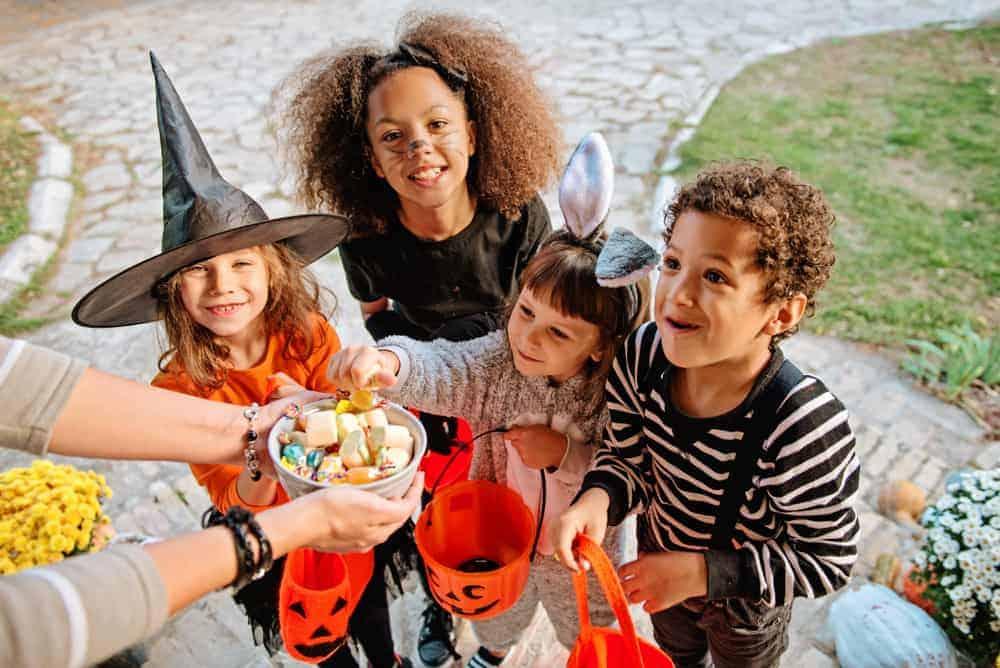 Children in Halloween Mode