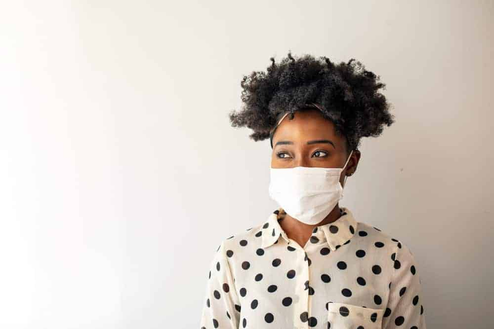 A Woman in Face Mask