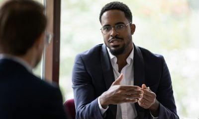 A Man During a Meeting