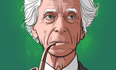 A Drawing of Bertrand Russell