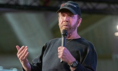Chuck Norris Talking on Stage