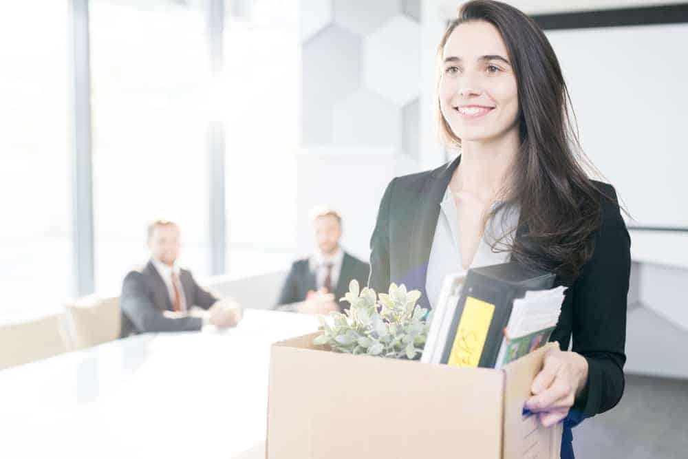 A Woman Resigning from Work