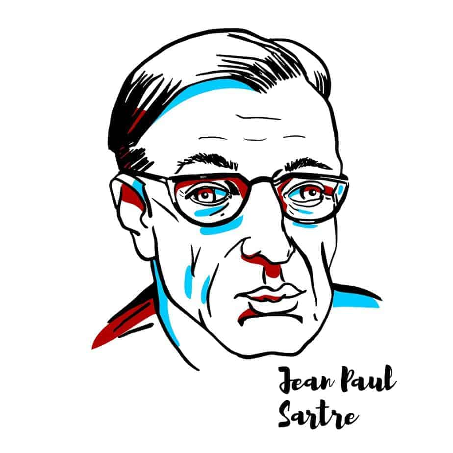 A Sketch of Jean-Paul Sartre
