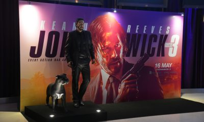 A Statue of John Wick with his Dog