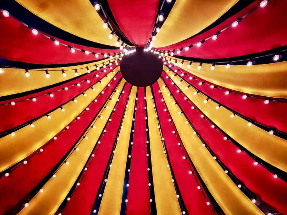 A Yellow and Red Tent