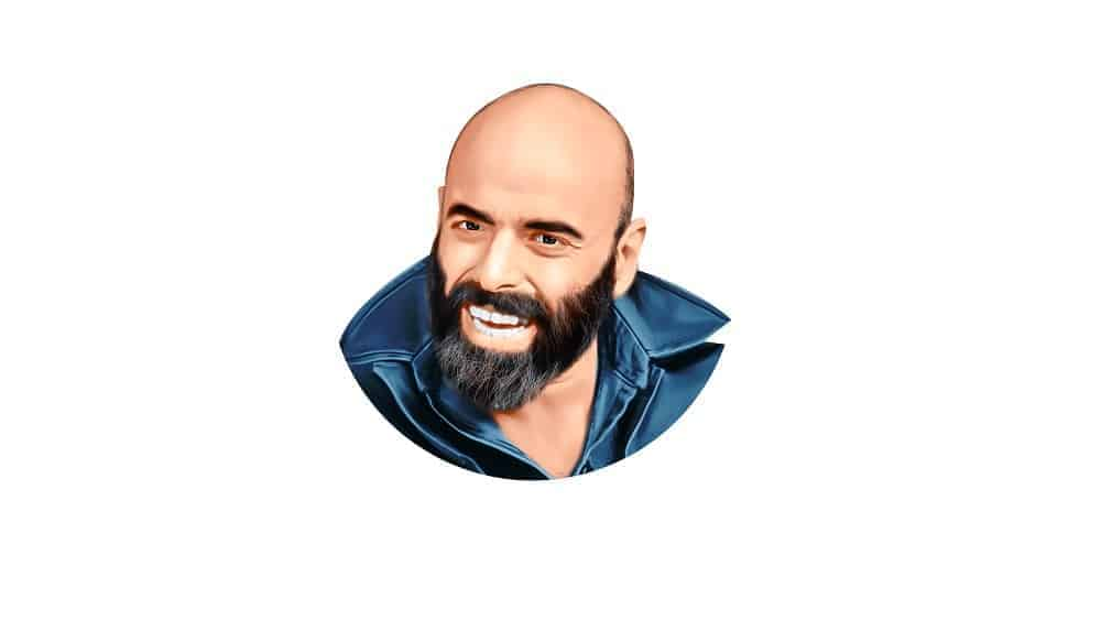 A Painting of Shel Silverstein