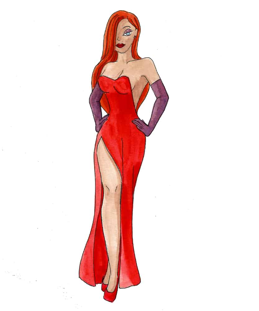 A Drawing of Jessica Rabbit