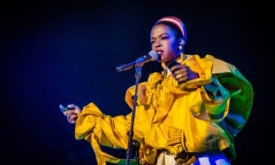 A Picture of Lauryn Hill Singing