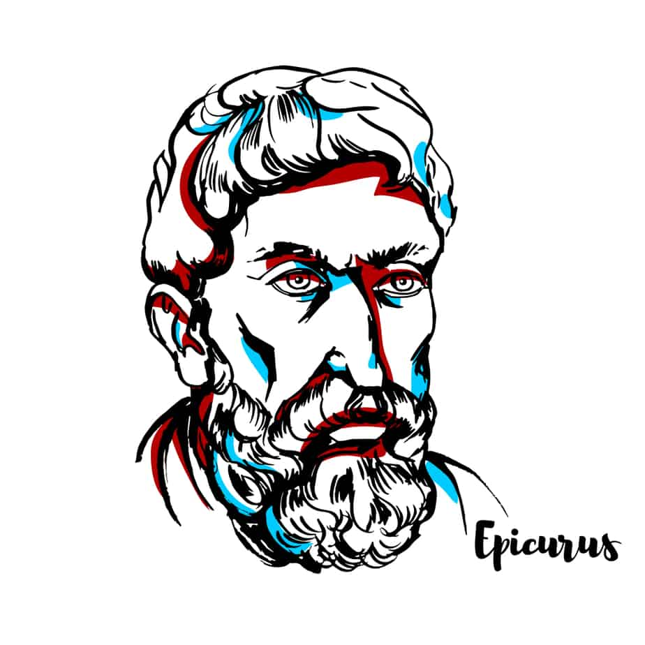 A Drawing of Epicurus