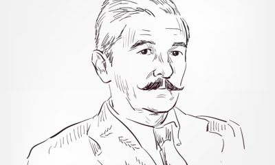 A Drawing of William Faulkner