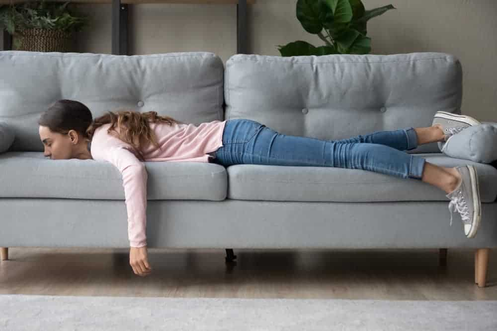 A Girl on a Couch