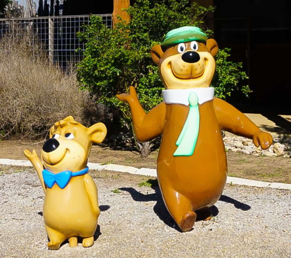 26 Yogi Bear and His Son in a Park