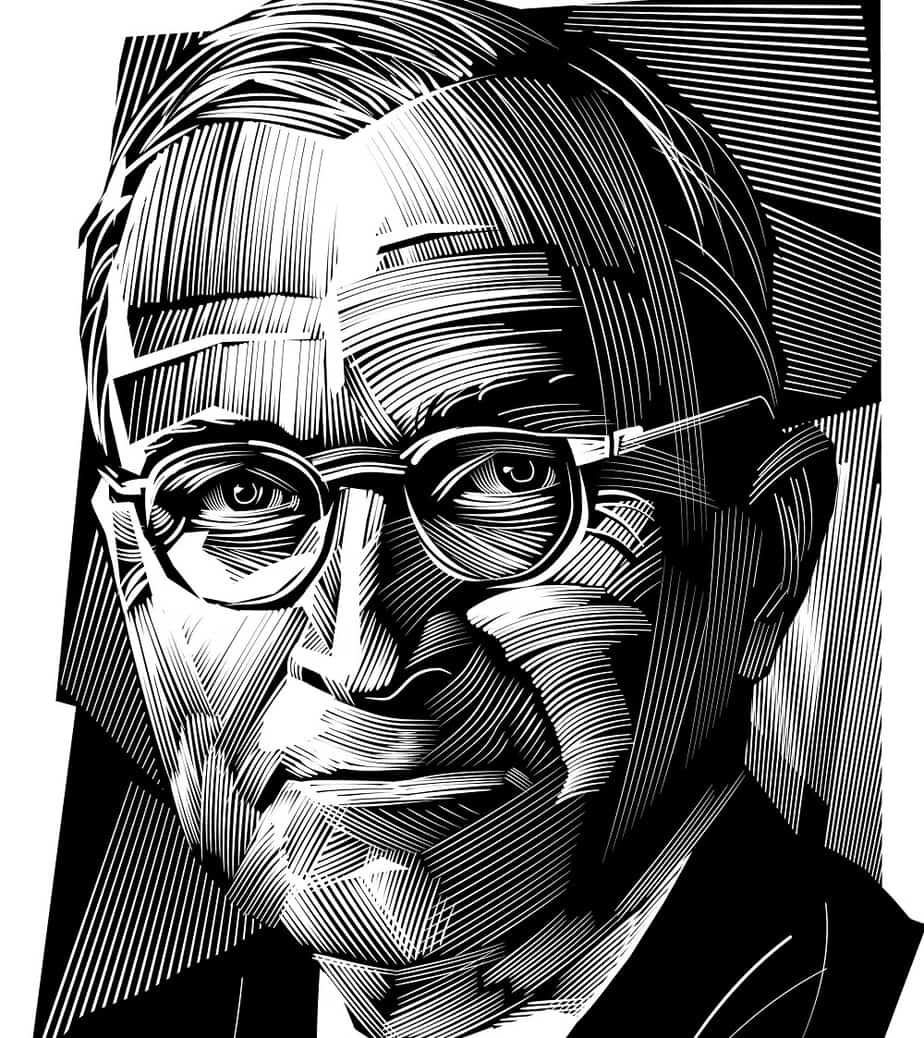 An Artwork Portrait of Harry Truman
