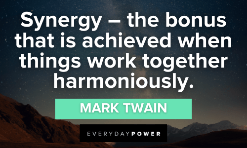 Collaboration Quotes about synergy