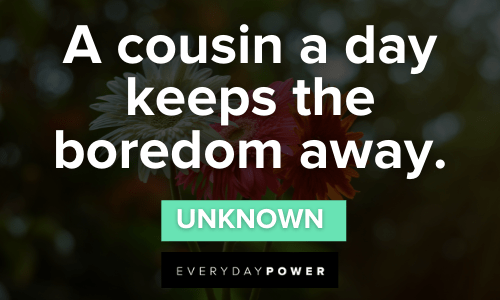 Cousin Quotes that will make your day